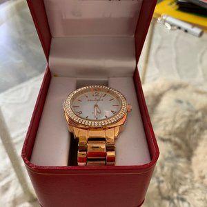 Peugeot Women 40mm Boyfriend Crystal Bezel Watch